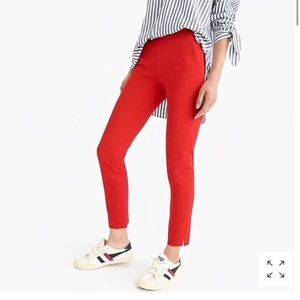 J. Crew Martie Slim Red Trouser Pants Sz 6 NEW